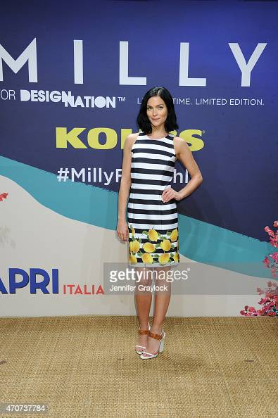 The Misshapes DJ Leigh Lezark attends the Kohl's MILLY for DesigNation cocktail party at Isola Mondrian Soho Hotel on April 22 2015 in New York City