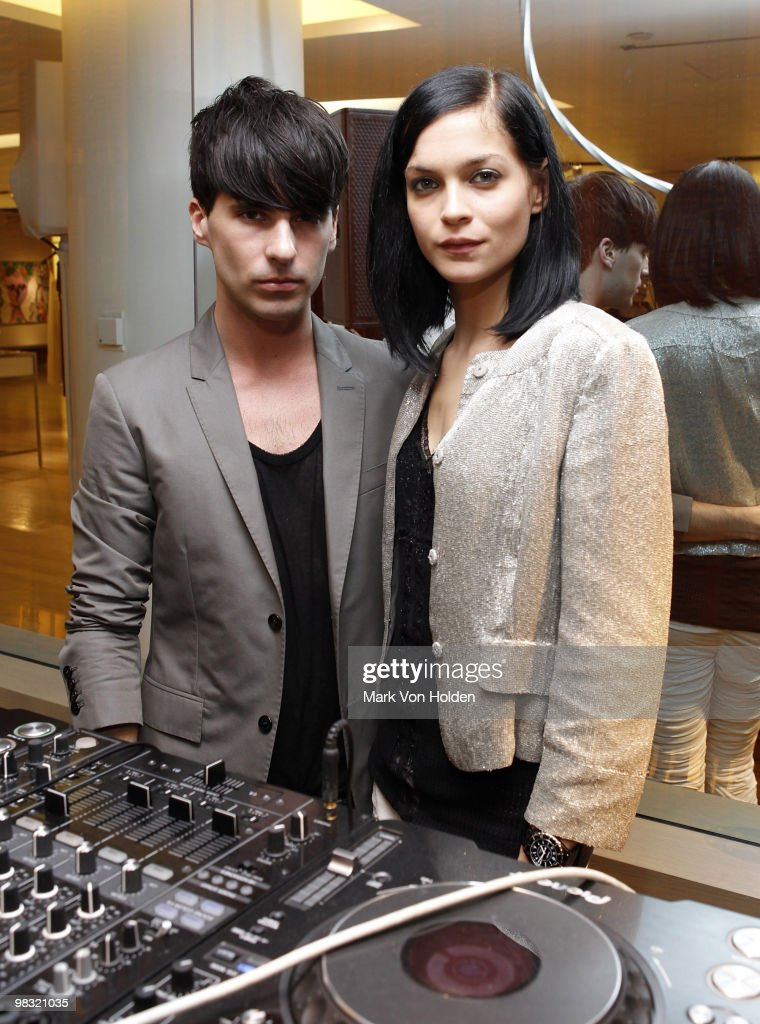 The Misshapes, Geordon Nicol and Leah Lezark attend the book party for Derek Blasberg's Classy at Barneys New York on April 6, 2010 in New York City.