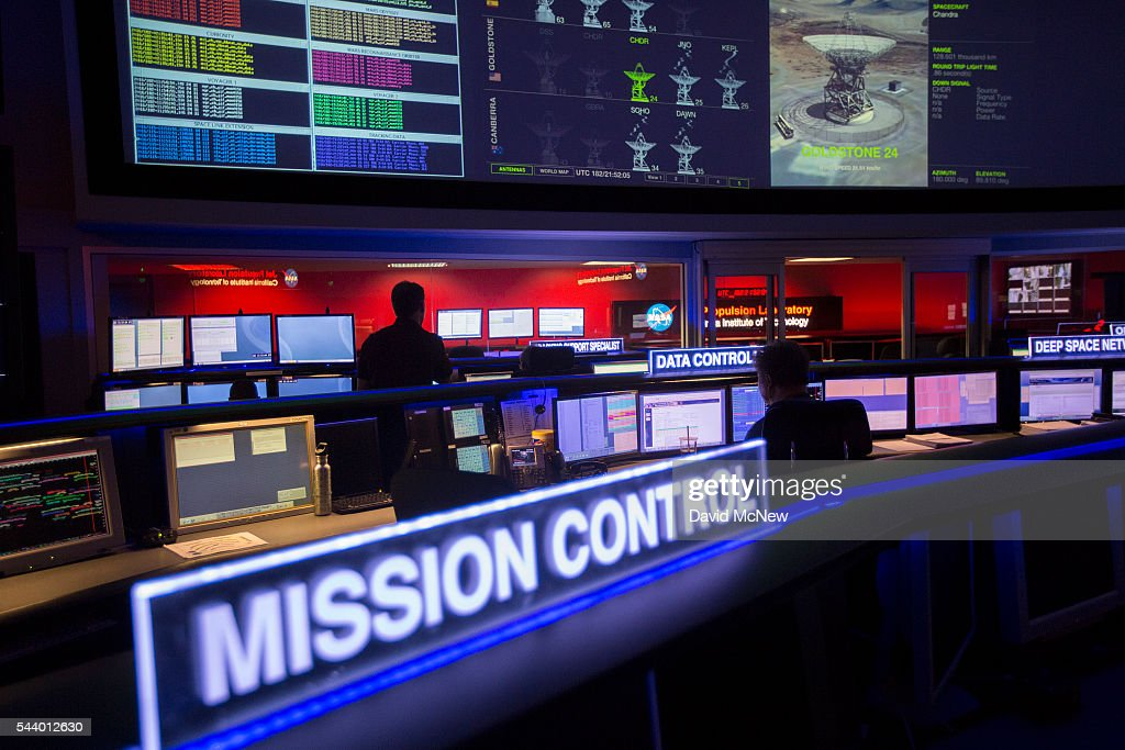 The mission control room of the JPL Space Flight Operations Facility is seen at JPL as NASA officials and the public look forward to the Independence Day arrival of the the Juno spacecraft to Jupiter, at JPL on June 30, 2016 in Pasadena, California. After having traveling nearly 1.8 billion miles over the past five years, the NASA Juno spacecraft will arrival to Jupiter on the Fourth of July to go enter orbit and gather data to study the enigmas beneath the cloud tops of Jupiter. The risky $1.1 billion mission will fail if it does not enter orbit on the first try and overshoots the planet.