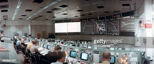 The Mission Operations Control Room in Mission Control Centre Houston Texas USA 1971 This photograph was taken minutes after the launch of the Apollo...