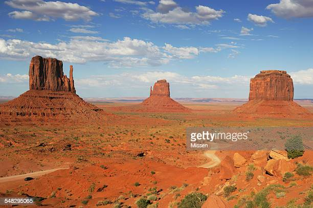 The Mittens and Merrick Butte, Monument Valley, Arizona, America, USA