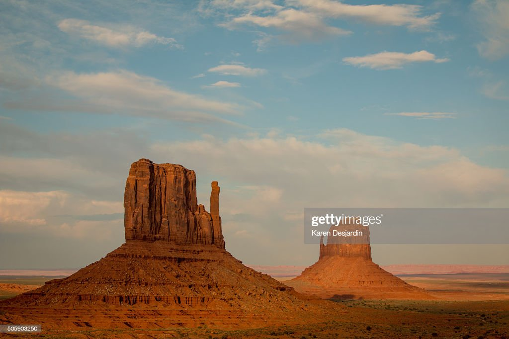 The Mittens, Monument Valley, AZ, late day light
