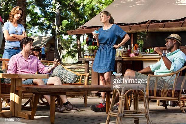CAMP 'The Mixer' Episode 103 Pictured Rachel Griffiths as Mackenzie 'Mack' Granger Adam Garcia as Todd Genevieve Hegney as Sheila Chris Kirby as Raffi