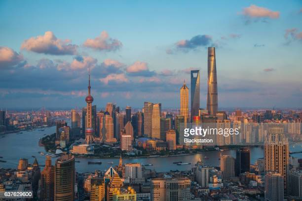 the mixture and the comparison of ancient buildings and modern buildings is one of Shanghai's unique feature