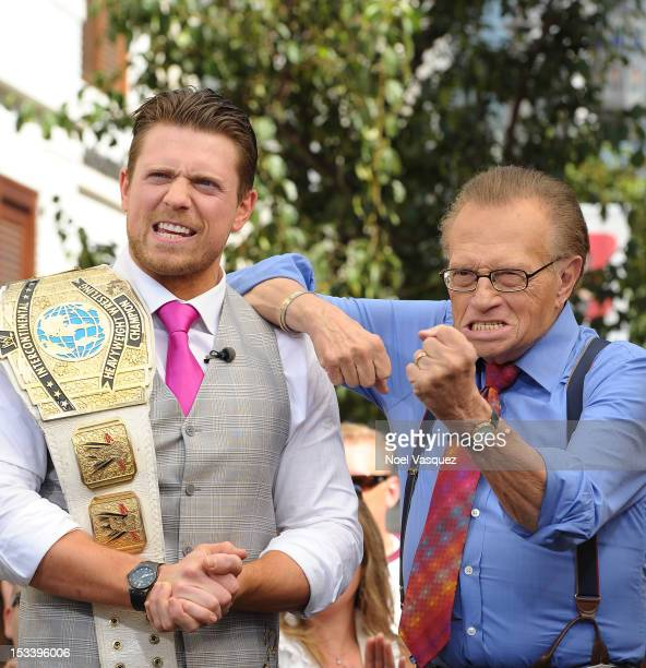 The Miz and Larry King visit 'Extra' at The Grove on October 4 2012 in Los Angeles California