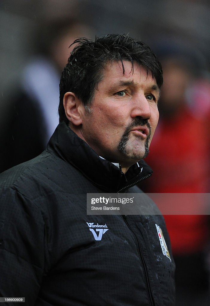 The MK Dons assistant manager Mick Harford before the npower League One match between MK Dons and Colchester United at Stadium MK on November 24, 2012 in Milton Keynes, England.