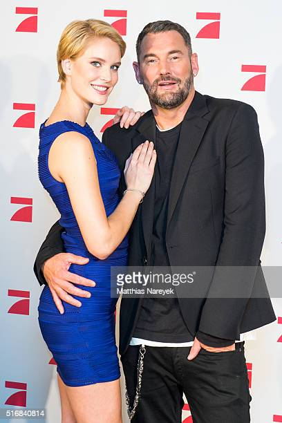 The model Kim and Michael Michalsky pose during a photo call for the tv show 'Germany's Next Topmodel' on March 21 2016 in Berlin Germany