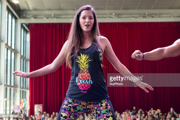 The model Malena Costa attends the presentation of classes to dance the Zumba at Caja Magica in Madrid Spain March 19 2017