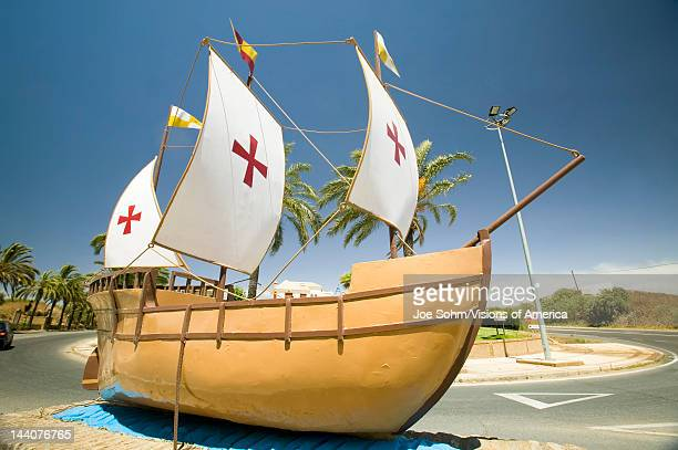 The model of the Santa Maria sailing ship used by Christopher Columbus in 1492 Palos de la Frontera Spain