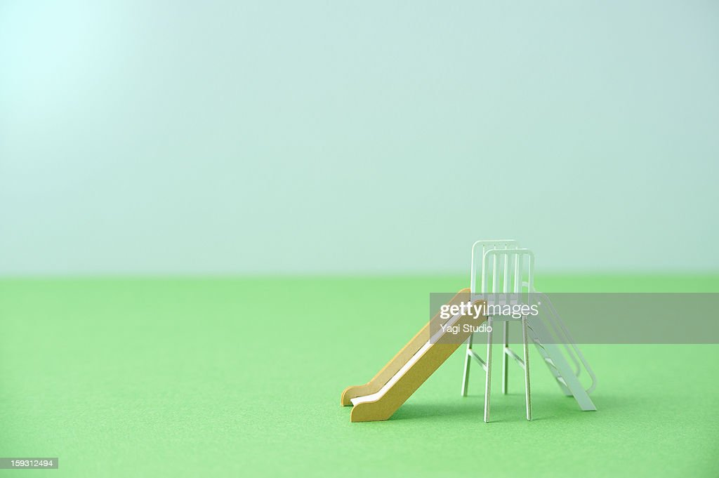 The model of the slide made of the paper : Stock Photo