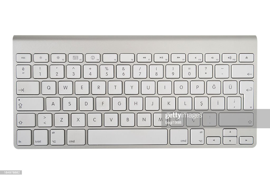 The modern and stylish keyboard for a computer : Stock Photo