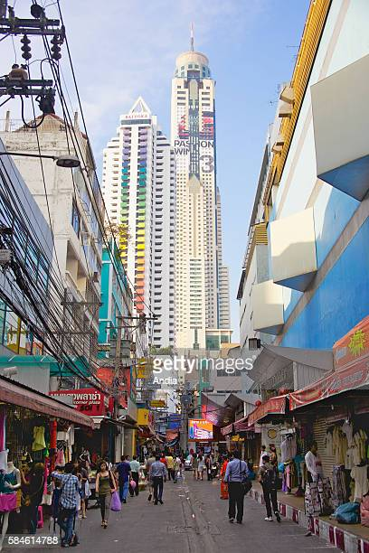 The modern business district of Sukhumvit in Bangkok View on Baiyoke II tower and Siam Square Thailand