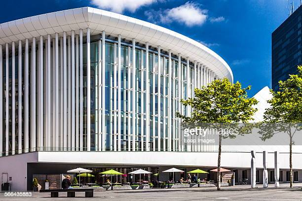 The modern Philharmonie concert hall in Luxembourg city