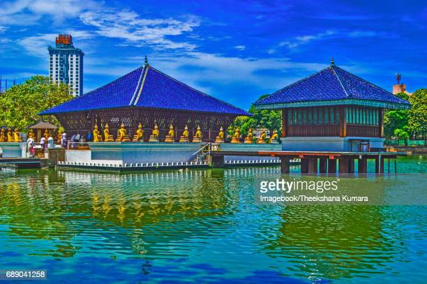 The modern Seema Malaka floating (designed by Geoffrey Bawa, one of Asia's foremost architects).