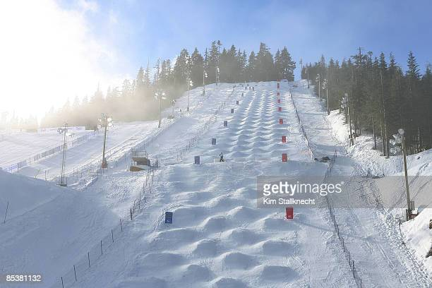 The moguls course on Cypress Mountain is seen on February 4 2009 in Whistler British Columbia Canada Cypress Mountain is a competition venue that...