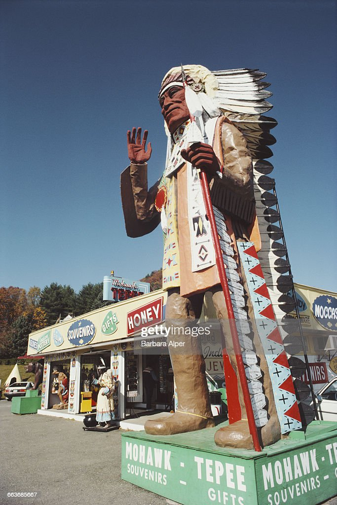 The Mohawk Tepee a souvenir and goft shop on the Mohawk Trail part of Route 2 Charlemont Massachusetts November 1986