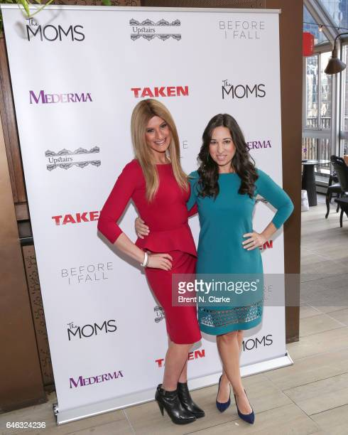 'The Moms' Denise Albert and Melissa Musen Gerstein attend Mamarazzi In Conversation with Jennifer Beals held at Upstairs NYC at The Kimberly Hotel...