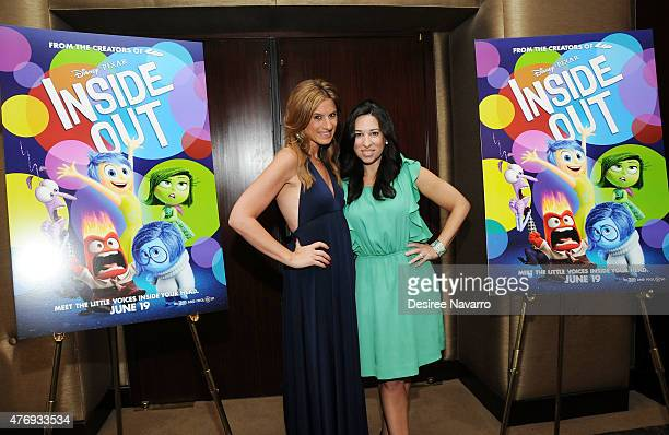 The Moms Denise Albert and Melissa Musen Gerstein attend The Moms 'Inside Out' Mamazzi Event With Bill Hader at Dolby Screening Room on June 12 2015...