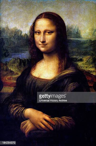The Mona Lisa painted portrait of Lisa Gherardini wife of Francesco del Giocondo A halflength portrait of a woman by the Italian artist Leonardo da...