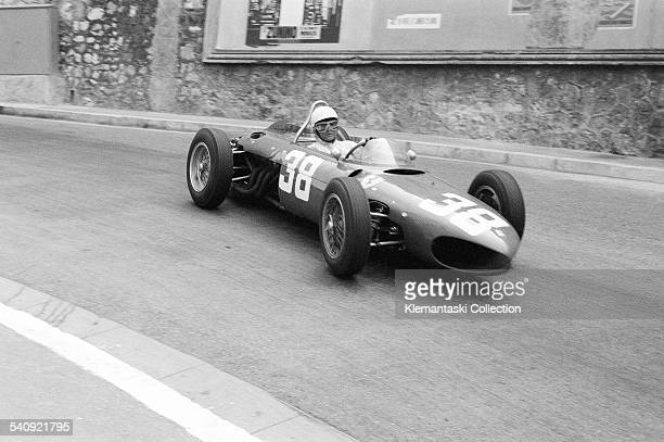 The Monaco Grand Prix Monte Carlo May 14 1961 Phil Hill in the Ferrari 156/F1 at Mirabeau He finished third