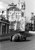 The Monaco Grand Prix Monte Carlo May 19 1957 A wonderful counterpoint the architecture of Monte Carlo's Casino and the speeding race cars The n 2...