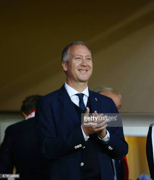 The Monaco Vice President Vadim Vasilyev during the UEFA Champions League Semi Final first leg match between AS Monaco v Juventus at Stade Louis II...