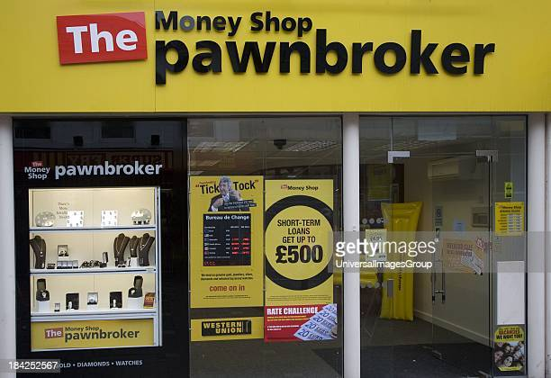 The Money Shop Pawnbroker shop in central business district of Swindon England