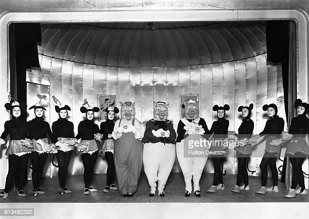 The Monte Carlo Follies 1934 Mickey Mouse Hilda Knight Minnie Mouse Evelyn Dall Big bad wolf Bob Robinson