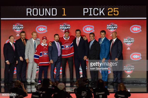 The Montreal Canadiens select left wing Ryan Poehling with the 25th pick in the first round of the 2017 NHL Draft on June 23 at the United Center in...