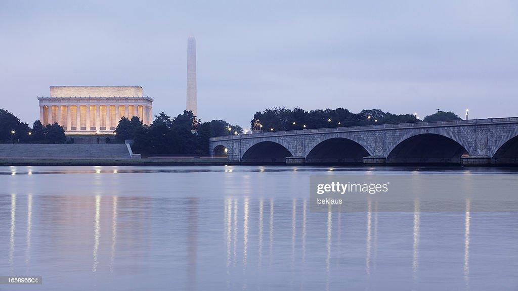 The Monuments of Washington DC at Dawn