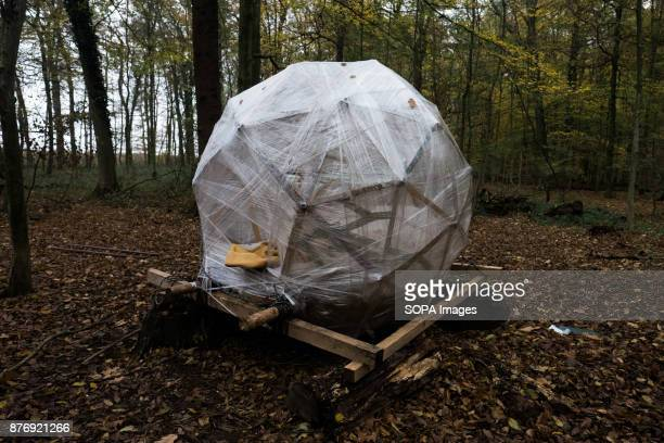 The Moon a antieviction device than can be lifted with an activist inside Starting in 2012 the Hambach Forest occupation settlements have slowed the...