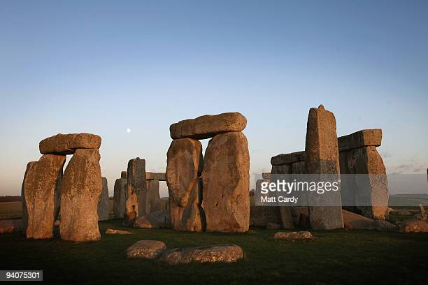 The moon rises over Stonehenge on November 30 2009 near Amesbury England United Nations Educational Scientific and Cultural Organization and internet...