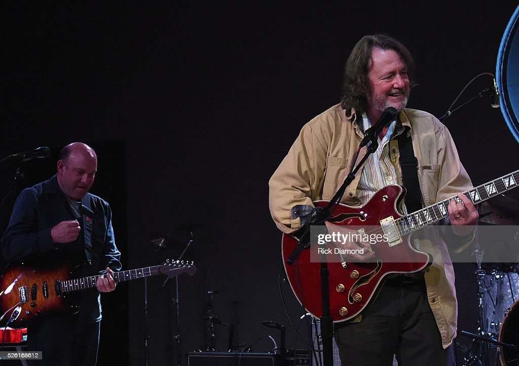 The Mooncussers Steve Liesman/CNBC joined by Widespread Panic's <a gi-track='captionPersonalityLinkClicked' href=/galleries/search?phrase=John+Bell&family=editorial&specificpeople=239006 ng-click='$event.stopPropagation()'>John Bell</a> at rehearsals for the White House Correspondents' Jam II presented by Mother Nature Network at The Hamilton on April 29, 2016 in Washington, DC.