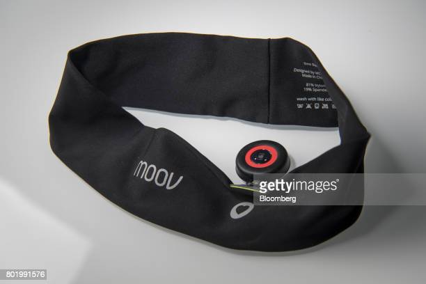 The Moov HR sweat headband is arranged for a photograph in San Francisco California US on Thursday June 22 2017 There's a new generation of wearables...