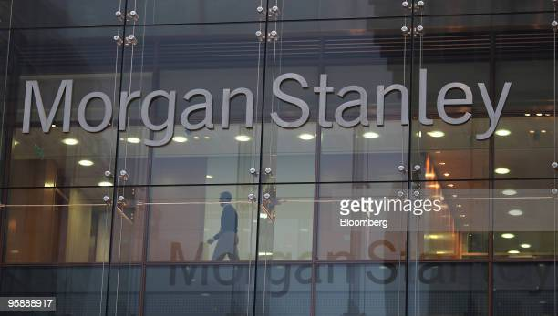 The Morgan Stanley company sign sits on their headquarters at Canary Wharf in London UK on Monday Jan 18 2010 Bank of America Merrill Lynch is...