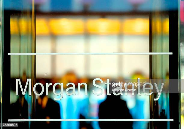 The Morgan Stanley sign is seen at their world headquarters December 19 2007 in New York City Morgan Stanley America's second largest investment bank...