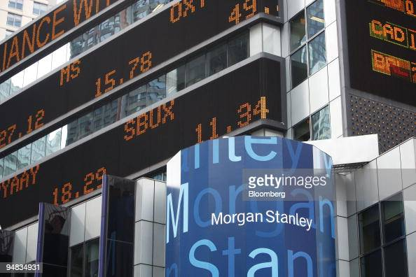 The Morgan Stanley Ms Ticker Symbol Is Displayed Across An