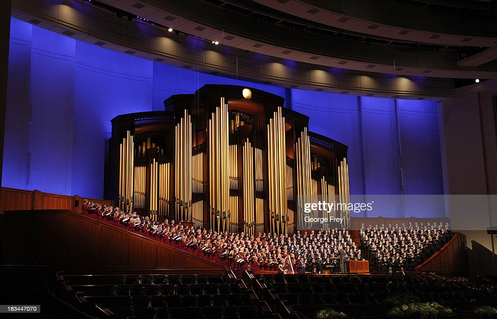 The Mormon Tabernacle Choir sings during the fourth session of the 183rd Semi-Annual General Conference of the Church of Jesus Christ of Latter-Day Saints in on October 6, 2013 in Salt Lake City, Utah. According to reports the Mormon Church announced its membership is at 15 million.