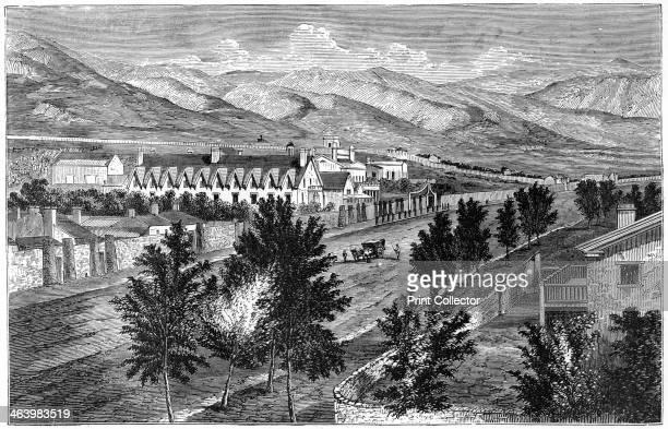 The Mormon temple and Prophet's Block Salt Lake City Utah