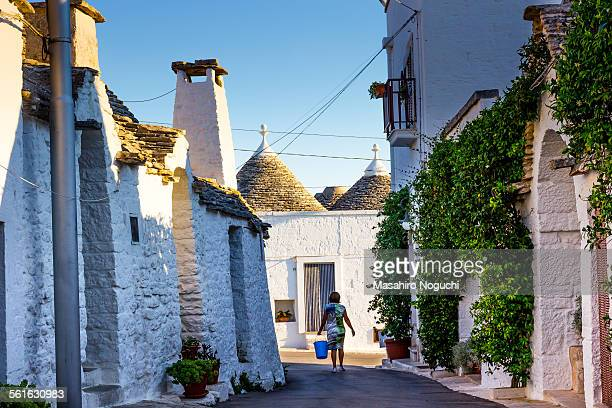 The morning chore at Alberobello