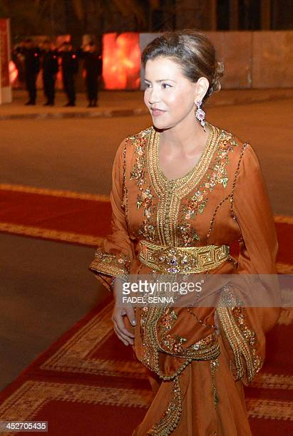 The Moroccan Princess Lalla Meryem arrives at the 13th Marrakech International Film Festival on November 30 2013 in Marrakech Morocco AFP PHOTO...