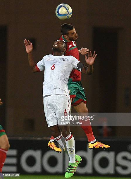 The Morocco's Belhanda Younes vies for the ball with the Cape Verde's Marco Paulo Silva Soares during the African Cup of Nations qualification...