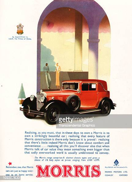 LONDON DECEMBER The Morris automobile of London is the subject of a magazine ad from the Christmas issue of Delineator magazine in 1931