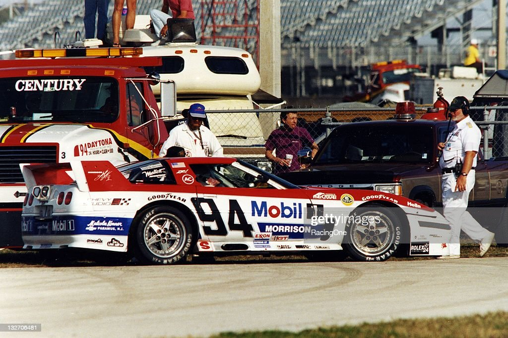 The Morrison Motorsports Chevrolet Corvette was driven at Daytona International Speedway in the SunBank 24 at Daytona by John Heinricy, Andy Pilgrim, Stuart Hayner and <a gi-track='captionPersonalityLinkClicked' href=/galleries/search?phrase=Boris+Said&family=editorial&specificpeople=240525 ng-click='$event.stopPropagation()'>Boris Said</a>.