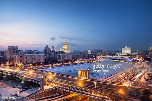 The Moscow evening cityscape