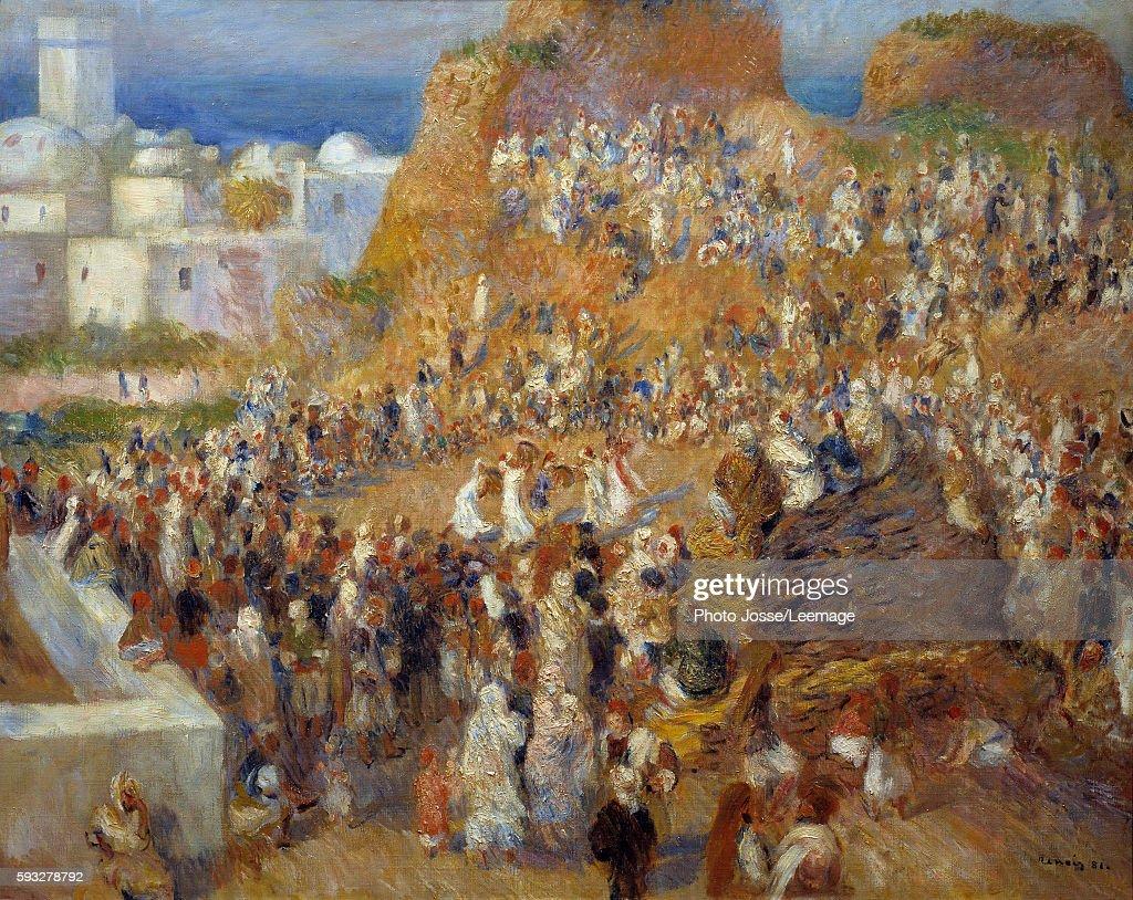 The mosque Arab festival Dance show and musicians in Algiers Painting by Pierre Auguste Renoir 1881 073 x 092 m Orsay Museum Paris