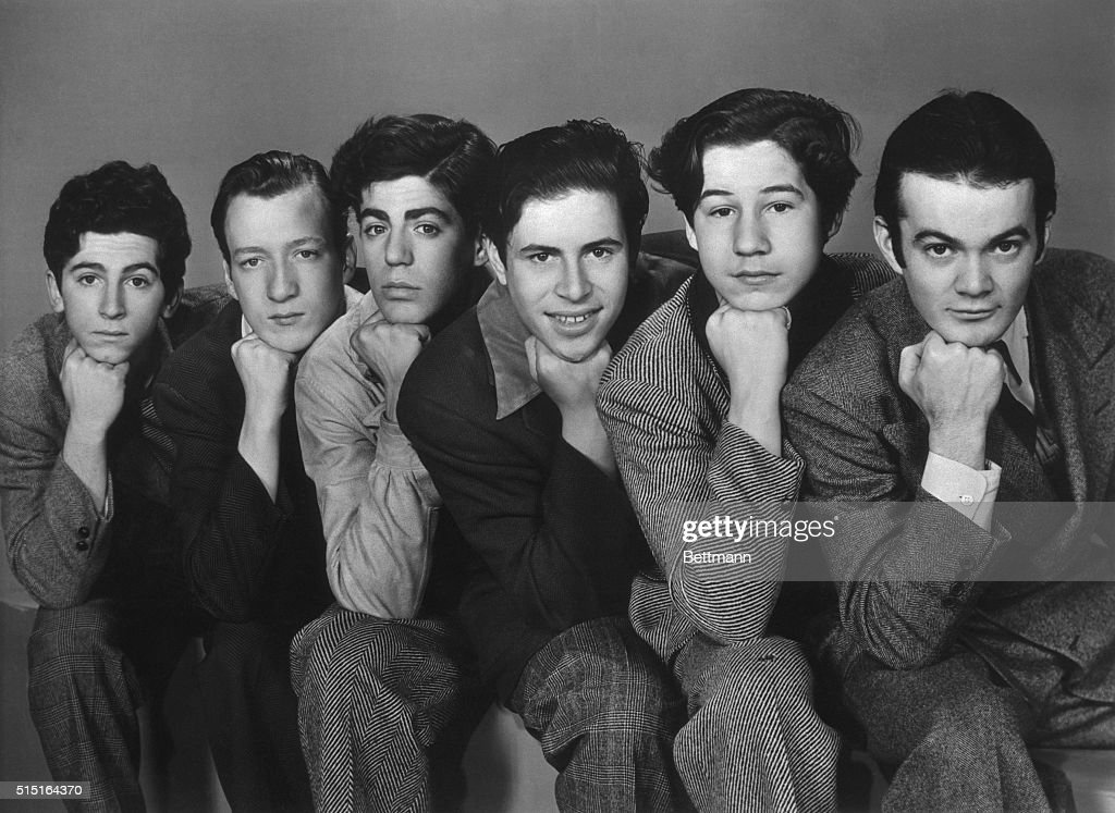The most famous and most longlived of all street gangs The Dead End Kids looked like this back in 1937 Left to right are Gabriel Dell Huntz Hall...