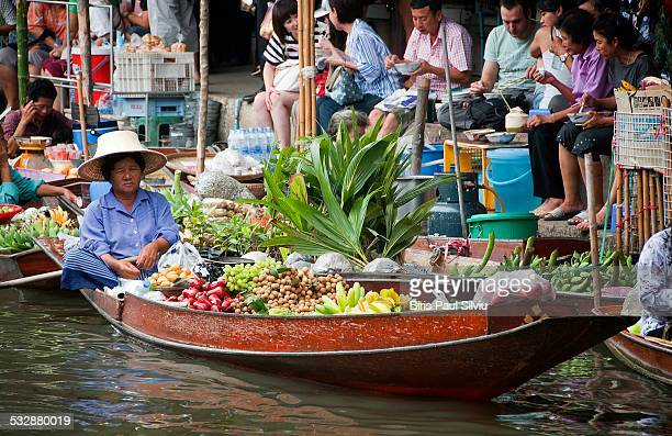 The most famous of the floating markets in Thailand is Damnoen Saduak The colorfully clad merchants at these lively markets paddle along congested...