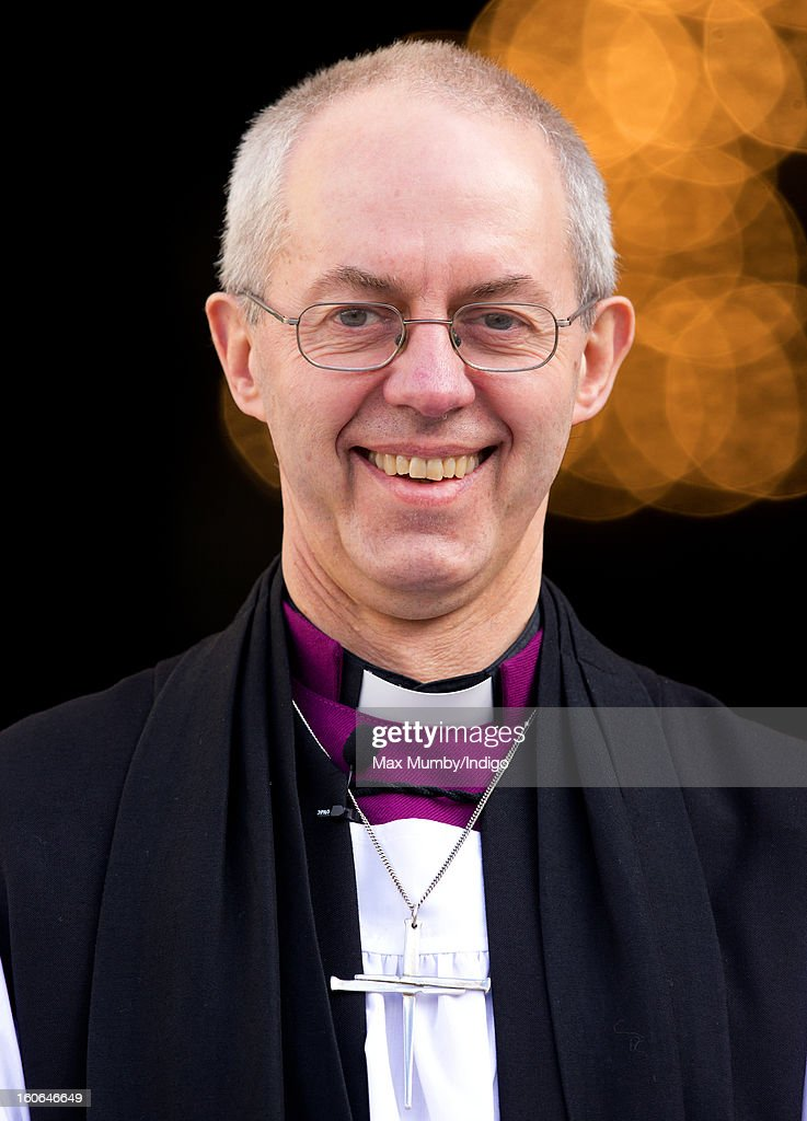 The Most Reverend <a gi-track='captionPersonalityLinkClicked' href=/galleries/search?phrase=Justin+Welby&family=editorial&specificpeople=9960447 ng-click='$event.stopPropagation()'>Justin Welby</a>, Archbishop of Canterbury stands on the steps of St Paul's Cathedral after attending a service confirming him as the new Archbishop of Canterbury on February 04, 2013 in London, England. The Bishop of Durham <a gi-track='captionPersonalityLinkClicked' href=/galleries/search?phrase=Justin+Welby&family=editorial&specificpeople=9960447 ng-click='$event.stopPropagation()'>Justin Welby</a> replaces Dr Rowan Williams and becomes the 105th Archbishop of Canterbury, with the office of Archbishop conferred on him in a ceremony known as the Confirmation of Election. His enthronement will take place in March at Canterbury Cathedral.