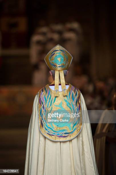 The Most Reverend Justin Welby arrives for his enthronement as Archbishop of Canterbury at Canterbury Cathedral on March 21 2013 in Canterbury...